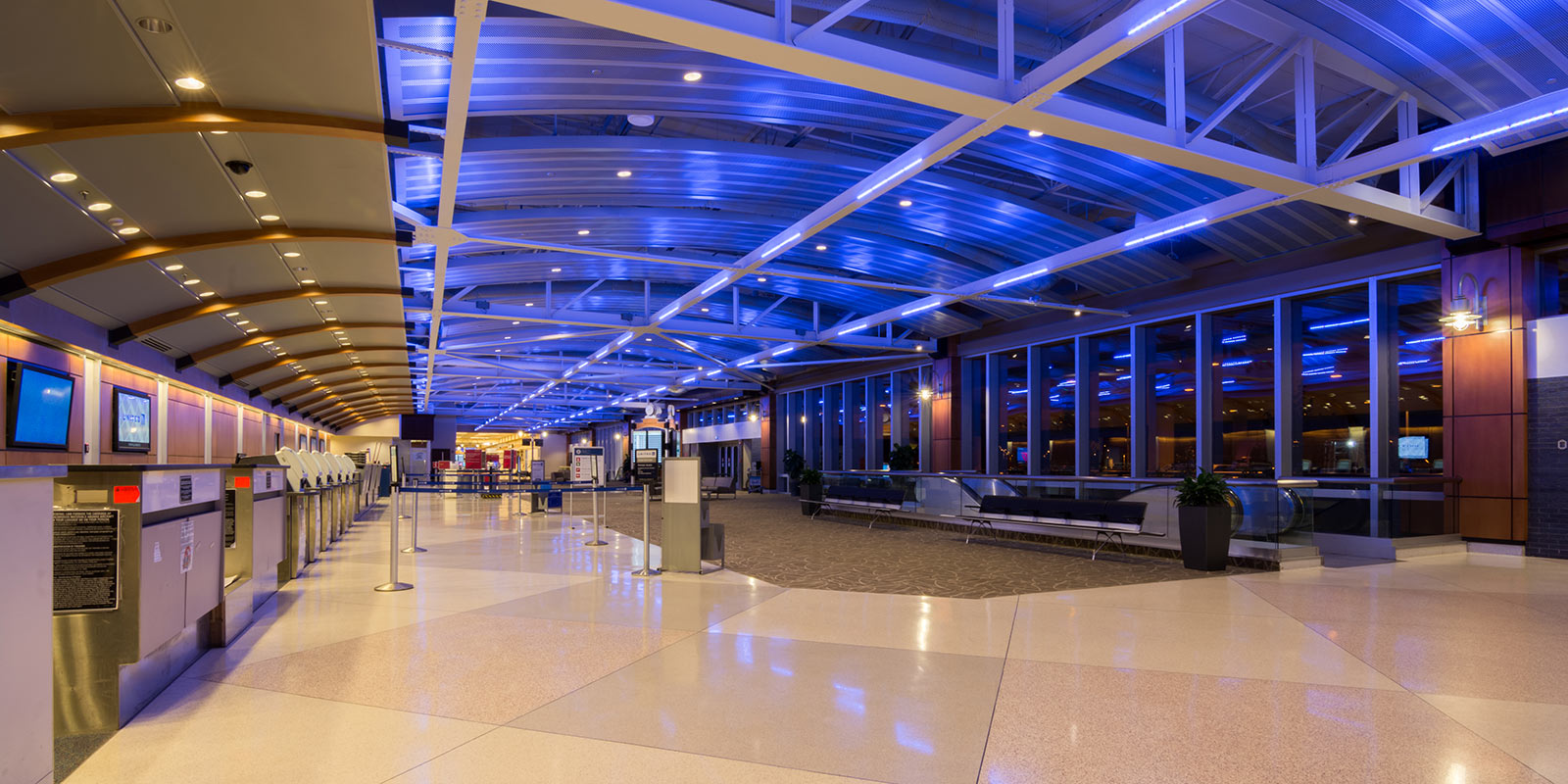 piedmont triad international airport ceiling redesign